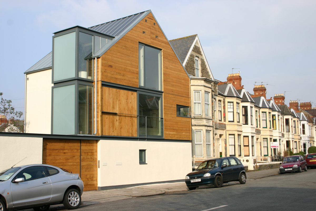 01 South West Elevation with Victorian street scene