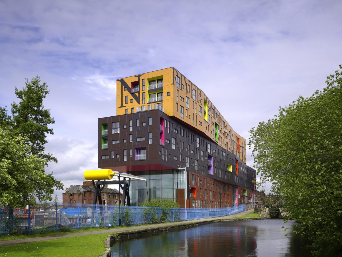 View North from Ashton Canal (c) Christian Richters